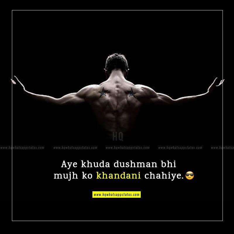 attitude status in hindi english font
