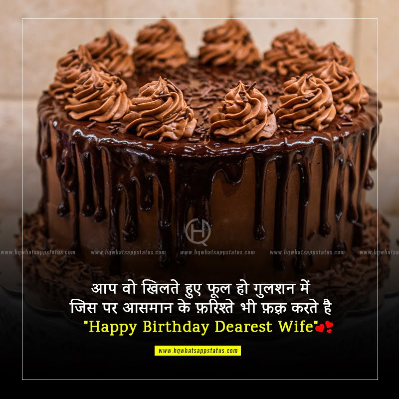 birthday wishes for wife in hindi font