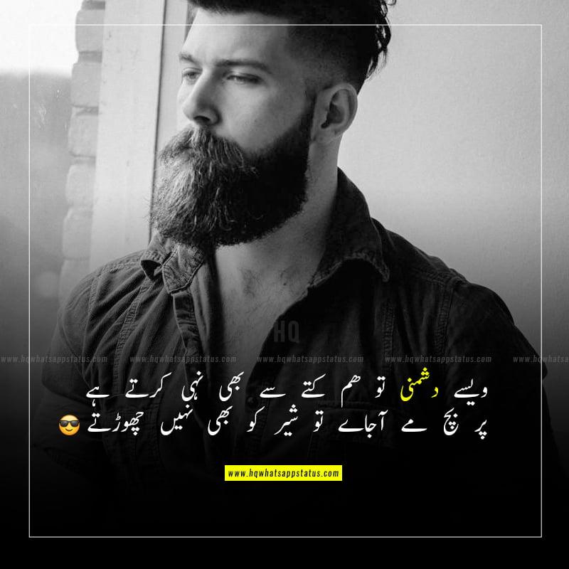 boys attitude status in urdu