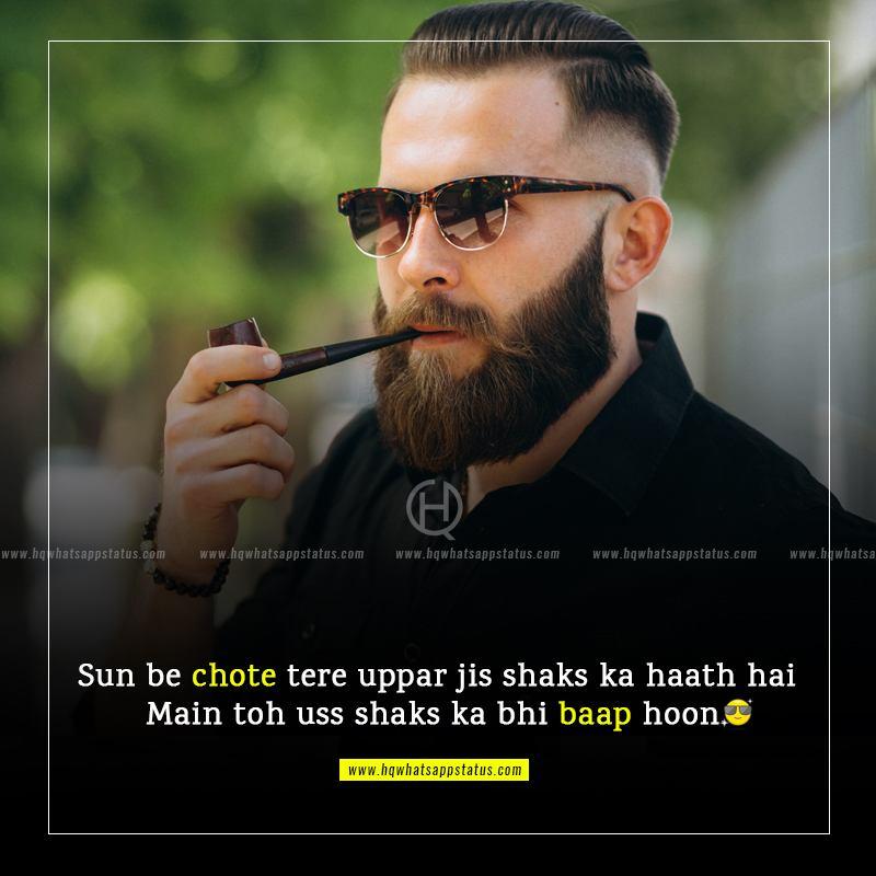 fb status for attitude boy in urdu