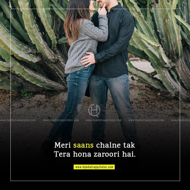 hindi love status in one line