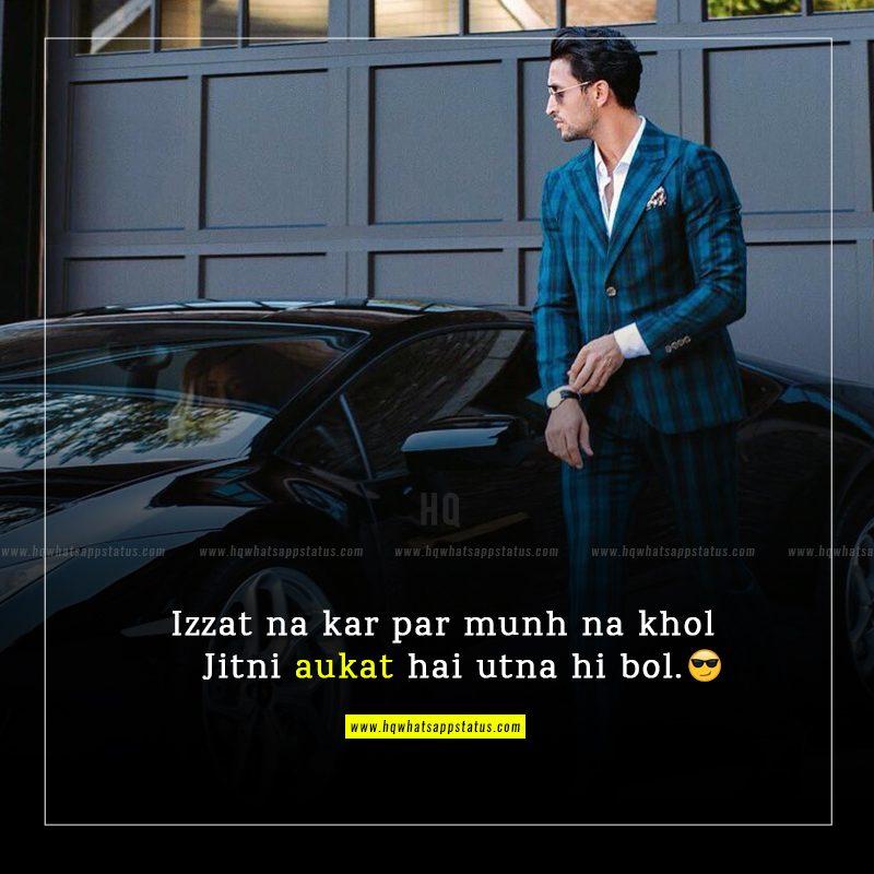 new status in hindi attitude