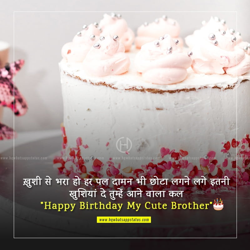 status for brother birthday in hindi