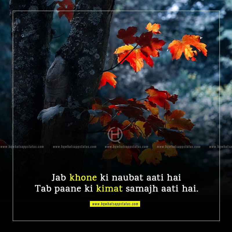 whatsapp status in hindi attitude one line love