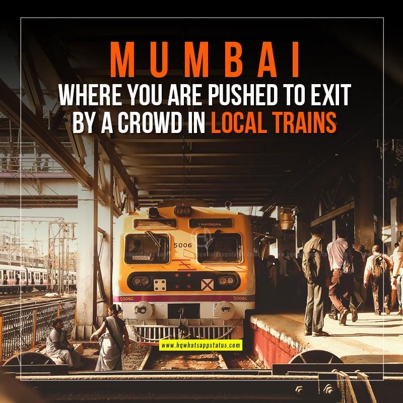 mumbai local train quotes