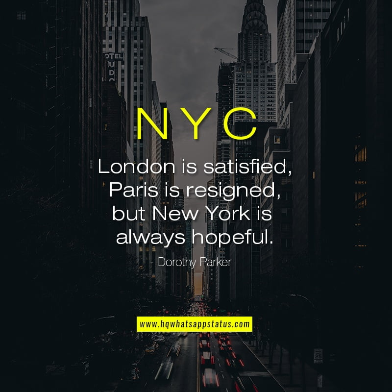 New York Quotes about city
