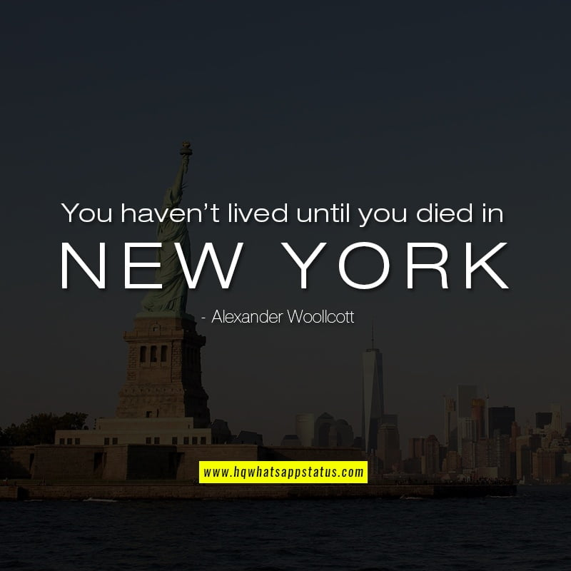 nyc quotes for whatsapp