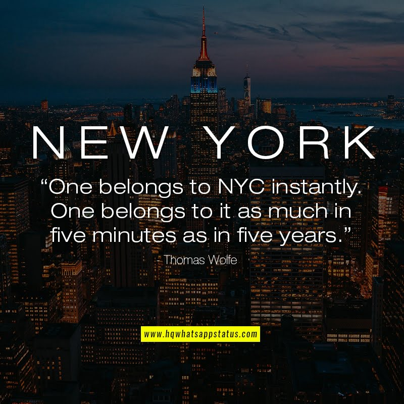 NYC Quotes about city