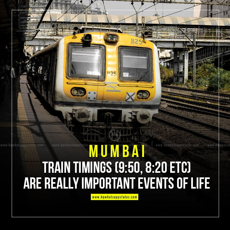 quotes on mumbai local trains