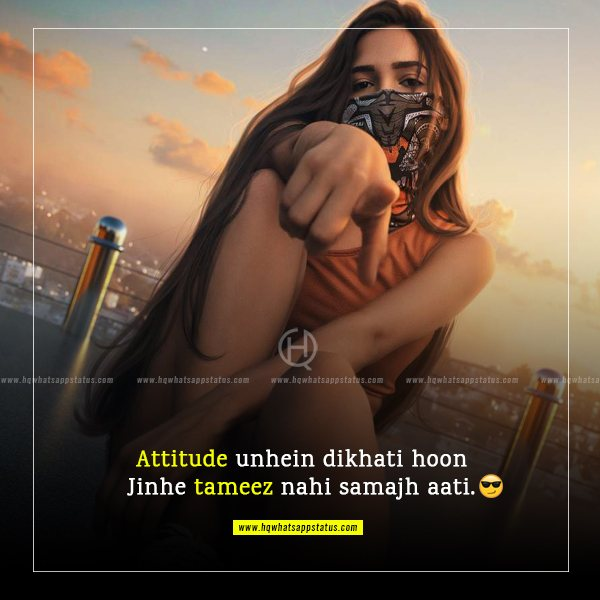 cool attitude status for facebook in hindi for girl