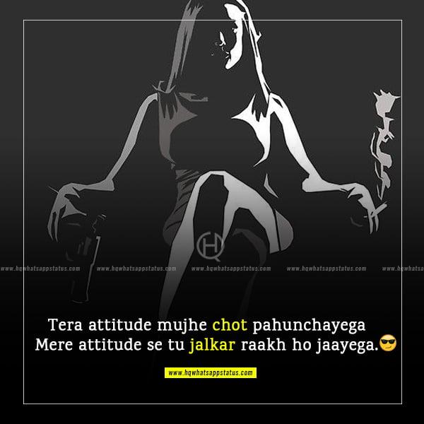 status hindi attitude girl