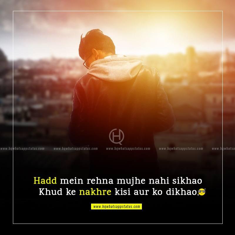 latest attitude quotes in hindi