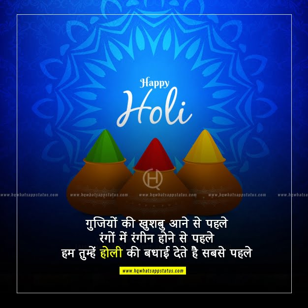 holi wishes in hindi font