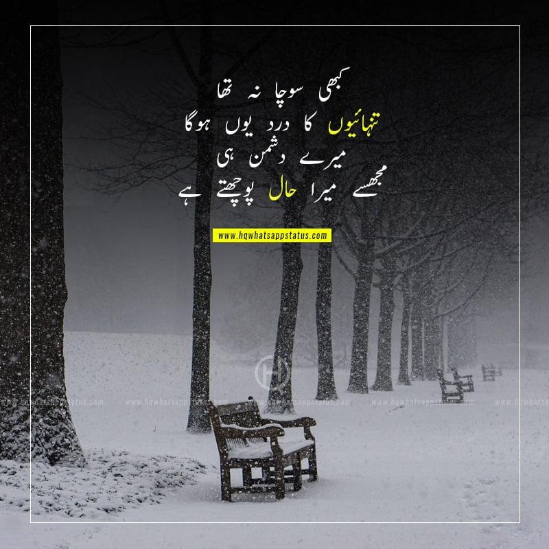 alone poetry in urdu