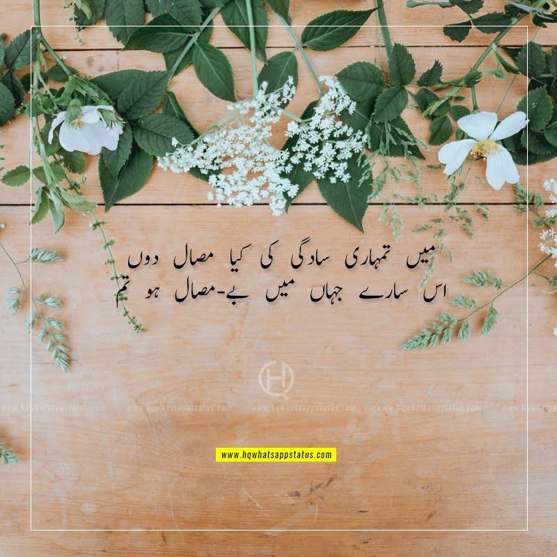 beauty poetry in urdu