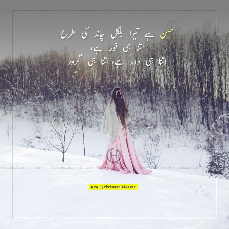 poetry for girls beauty in urdu