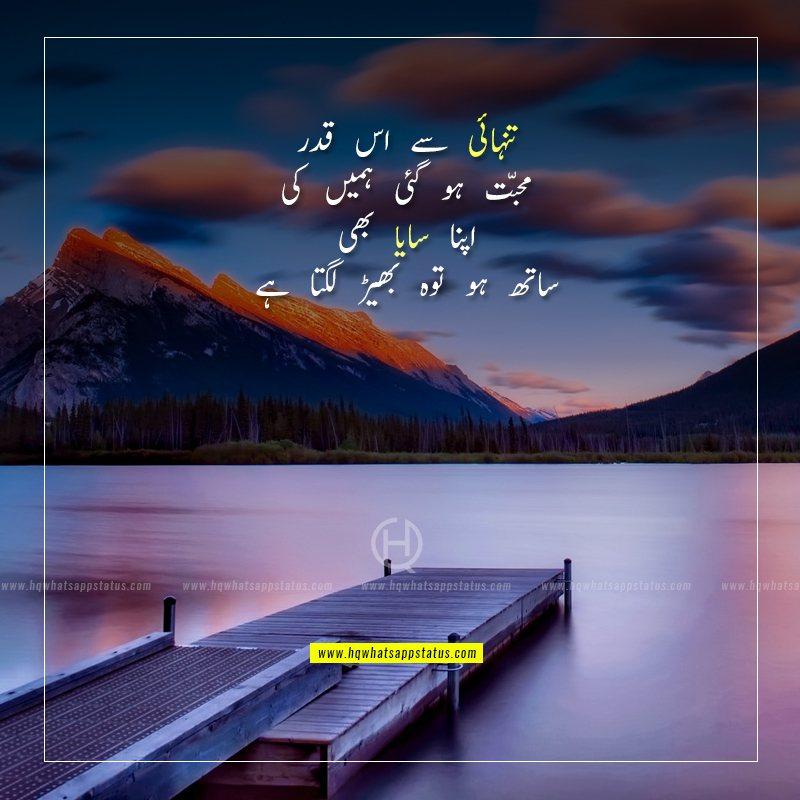poetry on alone in urdu