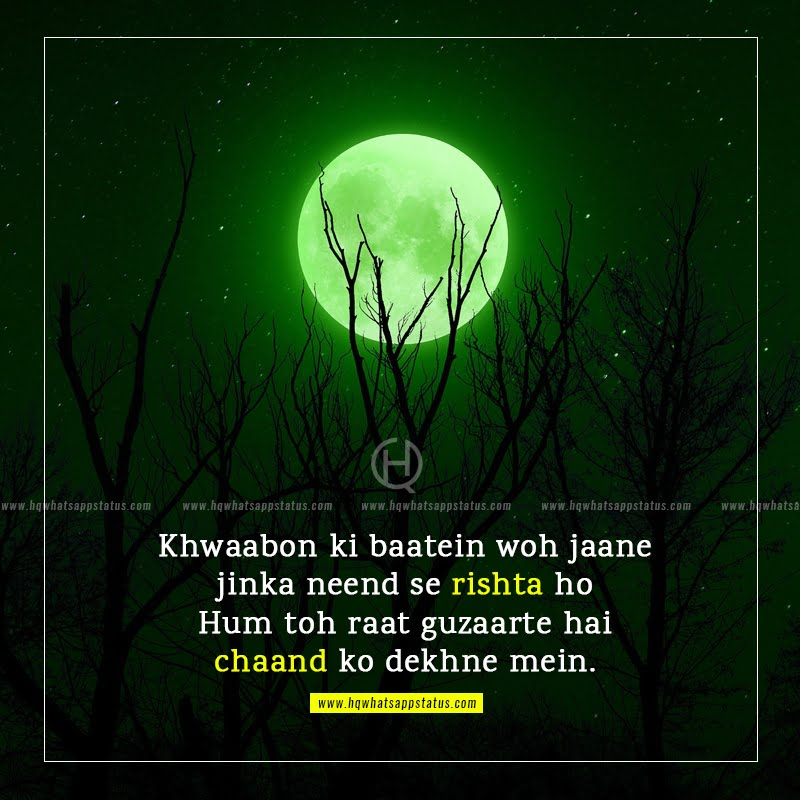 romantic shayari on moon