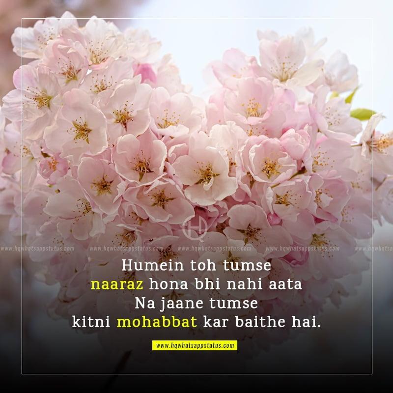 romantic two line shayari
