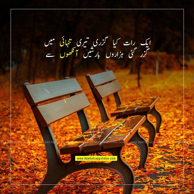 tanhai poetry in urdu 2 lines