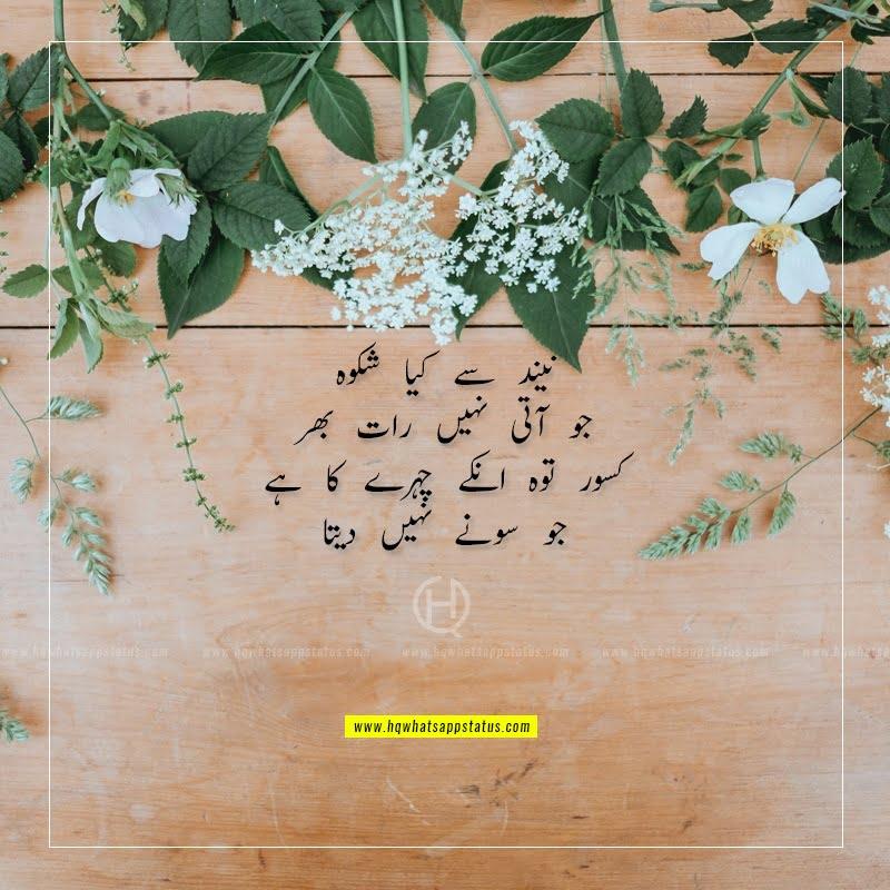 tera husn urdu poetry